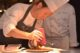 Chef roger rassin preparing anjou pigeon with beetroot raspberries 80x53