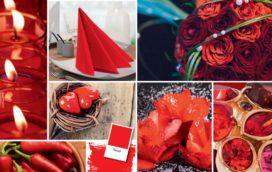 Herfsttafels kleuren rood en bruin