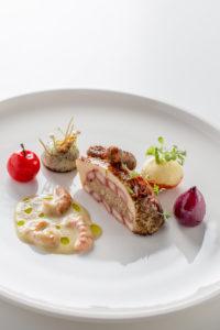 Gerecht Jan Smink Bocuse 2017: Bresse kip met rivierkreeft.