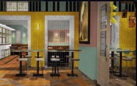 Eerste impressie interieur Escobar: restaurant van medewerkers Ron Blaauw