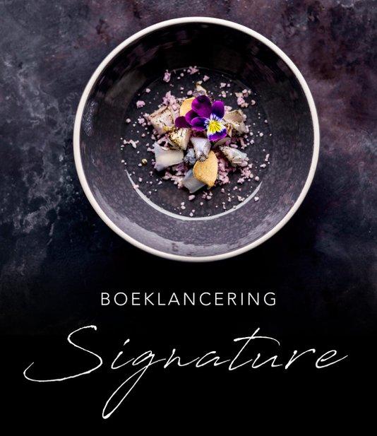 signature is het tweede boek dat restaurant aan de poel uitbrengt sommelier robbert veuger vertelt een boek maken is iedere keer weer een mooi en