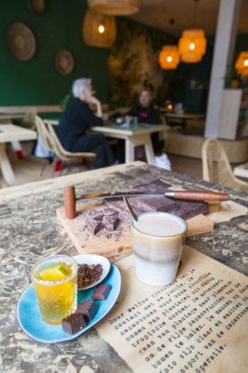 Leeuwarden-20170714 Restaurant Mellow, from bean to bar. Mellow Leeuwarden, chocolade restaurant van Rienk Edens, ook de man achter Doppio Espresso in Leeuwarden. Verhaal in Misset Horeca 16, zomer 2017.