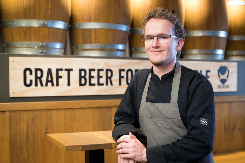 Timothy Wareman, chef-kok en bedrijfsleider van 'Cause Beer Loves Food.