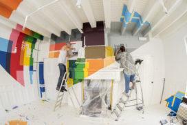Sterchef Servais Tielman trots op werk graffitikunstenaars