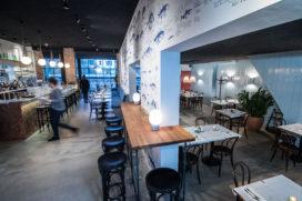 Horecainterieur: visrestaurant Bijvangst in Amsterdam