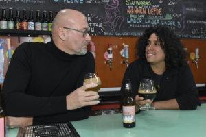 AMSTERDAM - Rick Nelson en Michel Ordeman (l) van Bierbrouwerij Oedipus, opdrachtnummer : 3934