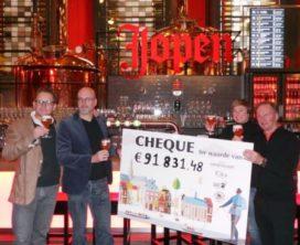 Jopen Bier Geniet & Geef 2017 levert ruim €90.000 op
