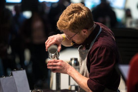 AMSTERDAM, 10 Maart 2018: Het Amsterdams Coffee Festival 2018, met de finale van het Nederlands Barista Kampioenschap. Op deze foto: Matthew Preston. © SEBASTIAAN ROZENDAAL