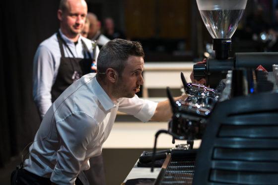 AMSTERDAM, 10 Maart 2018: Het Amsterdams Coffee Festival 2018, met de finale van het Nederlands Barista Kampioenschap. Op deze foto: Merijn Gijsbers. © SEBASTIAAN ROZENDAAL