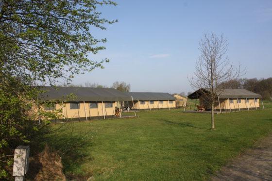 Naast het boerenbedrijf runt Erfgoed Bossem ook volledig ingerichte Tentlodges.