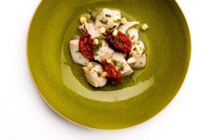 Recept Vis & Seizoen: ceviche van zeewolf in Europese stijl