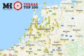 Landkaart Terras Top 100 2018