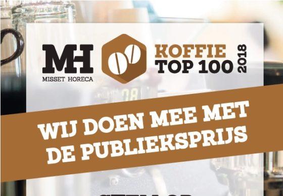 Stem hier voor de Publieksprijs Koffie Top 100 2018