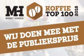 Tussenstand Koffie Top 100 Publieksprijs: De Tuynkamer gaat aan kop