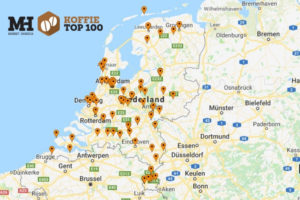 De Koffie Top 100 2018 in kaart
