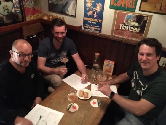 Vlnr. Juryleden Maik van Heerd, Wolter de Bes en Ivo Thijssen.
