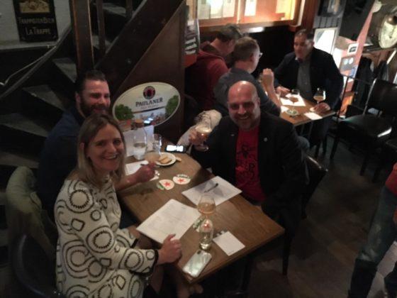 Vlnr. juryleden Fiona de Lange, Steve Willems en Peter van der Arend.
