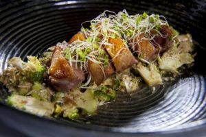 De hardloper: mals eendenvlees met butterscotch-saus
