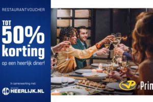 Nieuw Heerlijk.nl en Primera: 3 miljoen vouchers voor korting restaurant QY-35