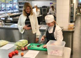 Staatssecretaris Mona Keijzer op werkbezoek bij ROC Mondriaan