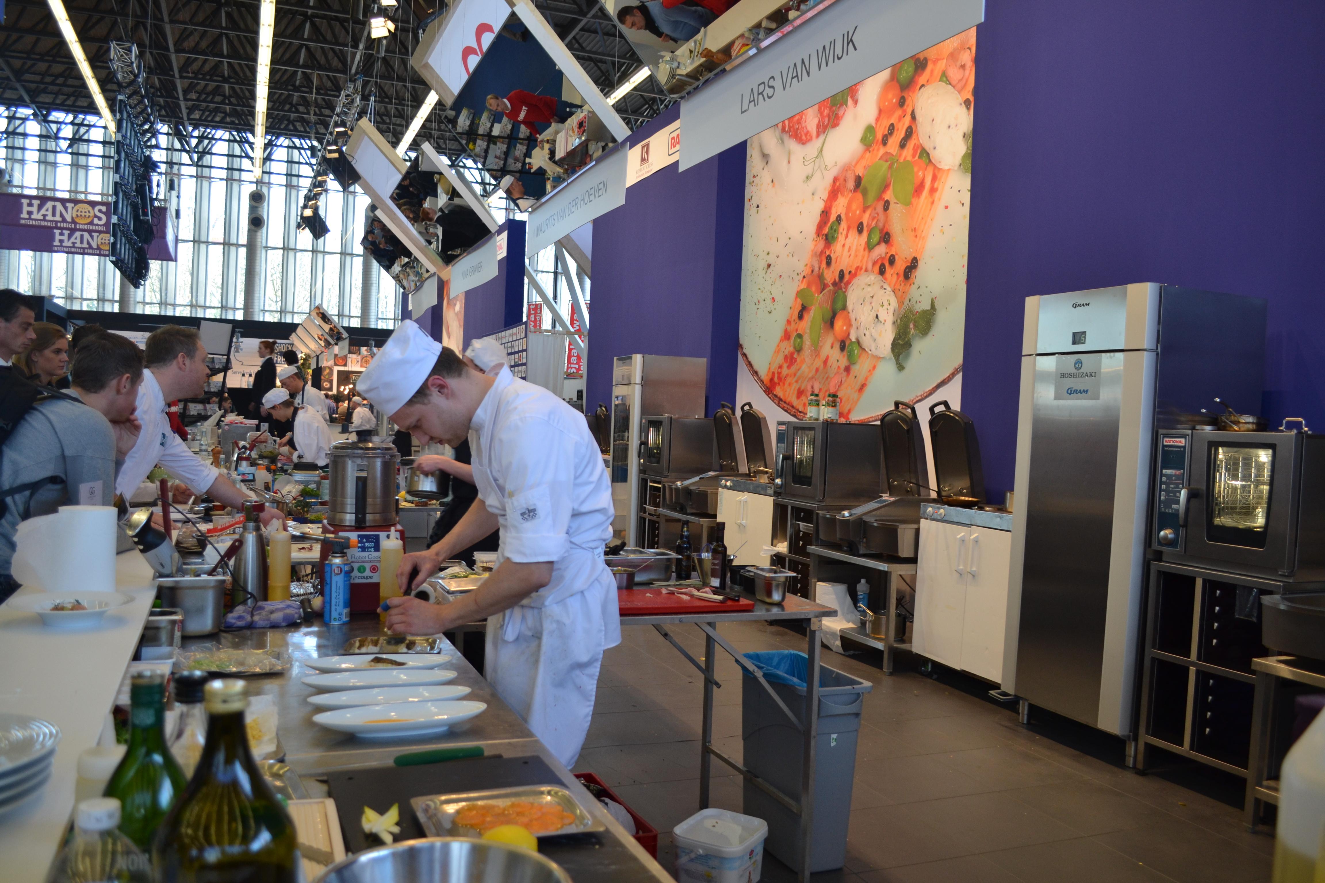 Foto's van de wedstrijd en de gerechten.