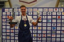 Ralph Benneker van De Bloemenbeek* winnaar van Zilveren Koksmes bij NK Jonge Koks