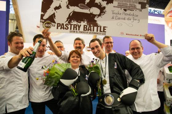Team van Culinair Centrum Beverwijk wint Dobla Pastry Battle