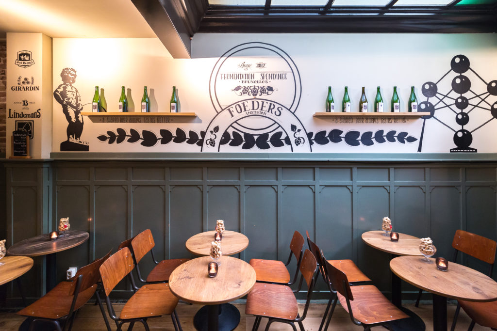 AMSTERDAM, 4 Februari 2019: Biercafe Foeders van ondernemer Yuri Hegge. © Sebastiaan Rozendaal