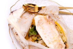 Recept Vis & Seizoen: En papillote gegaarde zeeduivel met venkel