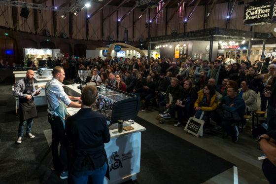 Amsterdam, 2 Maart 2019: The Amsterdam Coffee Festival. Foto van Jasper de Waal tijdens The Dutch Barista Championship.  © Sebastiaan Rozendaal