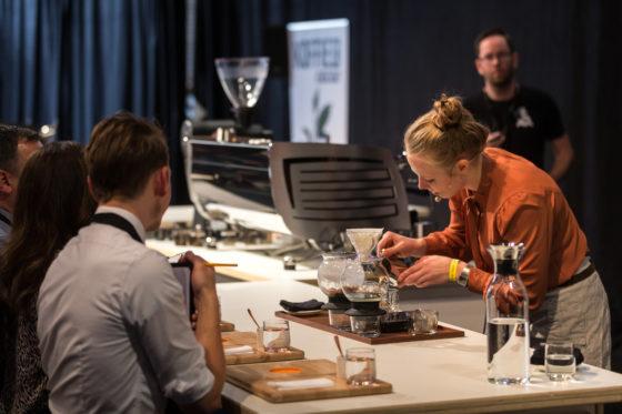 Amsterdam, 2 Maart 2019: The Amsterdam Coffee Festival. Foto van Dagmar Geerlings tijdens The Dutch Barista Championship.  © Sebastiaan Rozendaal