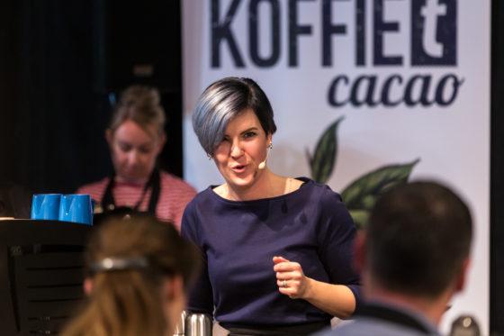 Amsterdam, 2 Maart 2019: The Amsterdam Coffee Festival. Foto van Wendelien van Bunnik tijdens The Dutch Barista Championship.  © Sebastiaan Rozendaal