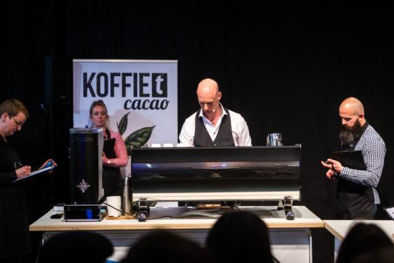 Amsterdam, 2 Maart 2019: The Amsterdam Coffee Festival. Foto van Gerard van Dijk tijdens The Dutch Barista Championship.  © Sebastiaan Rozendaal