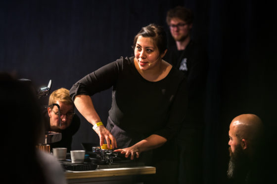 Amsterdam, 2 Maart 2019: The Amsterdam Coffee Festival. Foto van Farrah Tan tijdens The Dutch Barista Championship.  © Sebastiaan Rozendaal