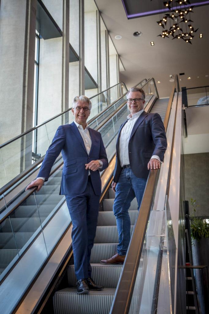 Alexander Kluit (links) en Jakob-Jan Blaauw van Leonardo Royal Hotel Amsterdam