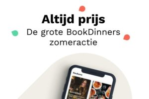 BookDinners actie: geen korting maar cadeautje voor gast