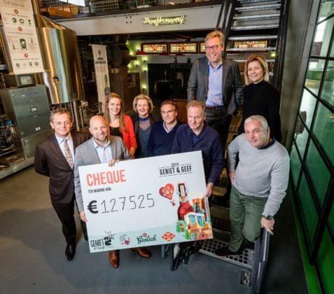 Recordopbrengst Geniet & Geef Bier: €127.525 voor KiKa