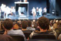 Proefevenement met bezoekers gehouden in Beatrix theater